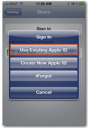 sign in Apple id