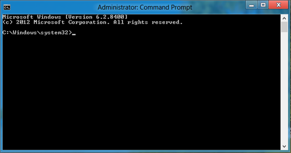 command prompt as admin