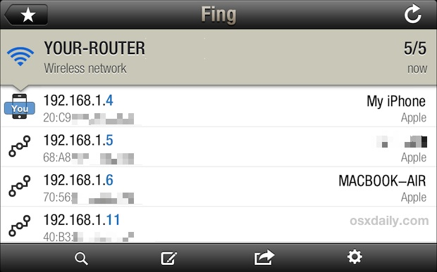 fing network scan