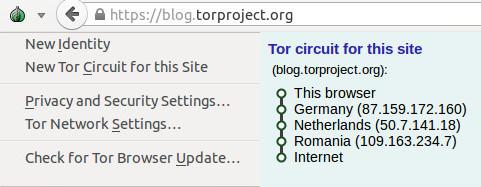 tor drop down menu on browser