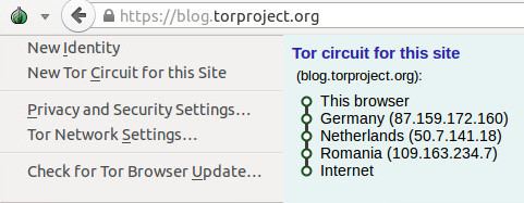 tor drop down menu on browser