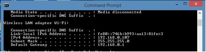 cmd ipconfig command