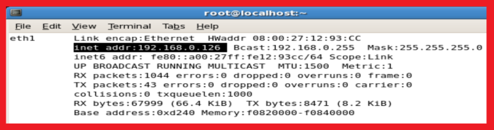 ip address in linux