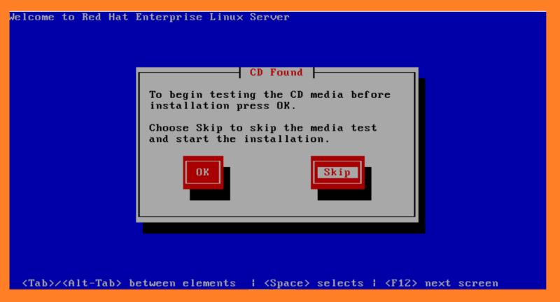 redhat linux installation