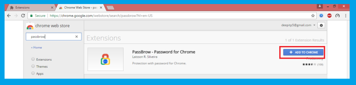 passbrow in chrome