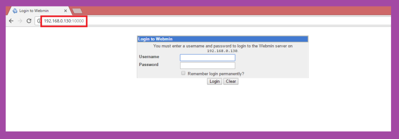 webmin in linux