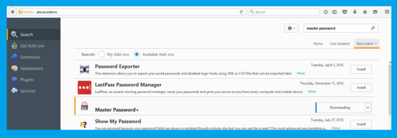 master password +