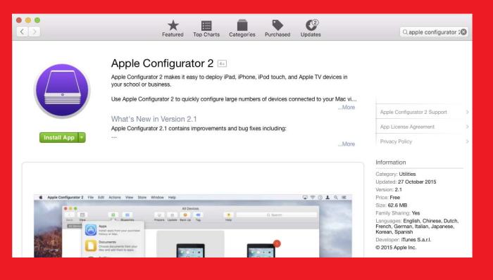apple configurator app
