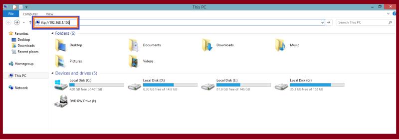 ftp server in windows