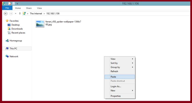 paste file in windows