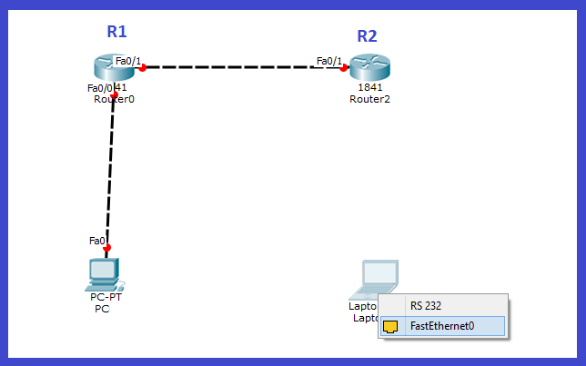 routers and laptop connection