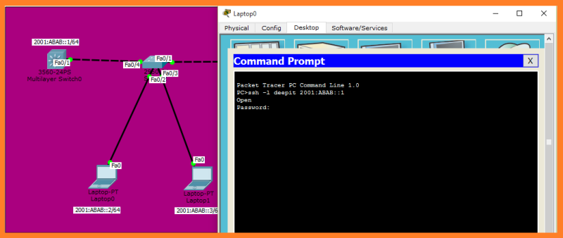 command prompt cisco packet tracer