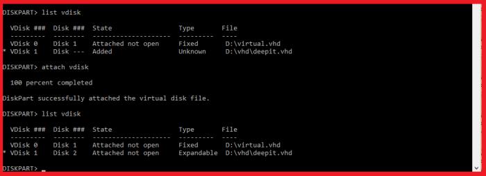 virtual harddisk  vdisk