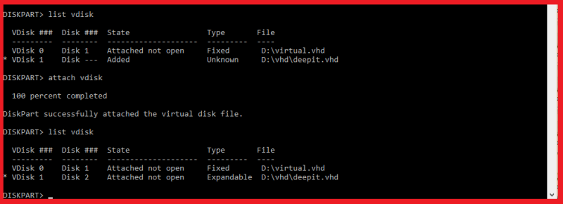 virtual harddisk  vdisk
