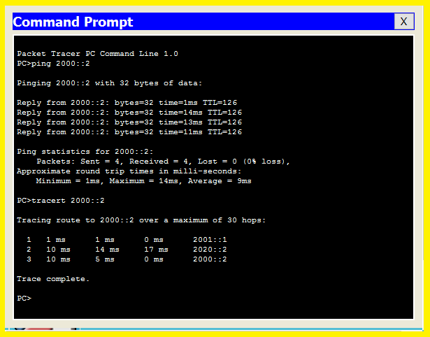 command prompt in cisco packet tracer