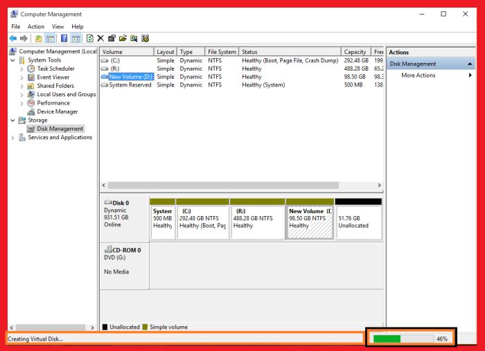 creating virtual harddisk