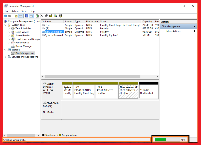 creating virtual harddisk