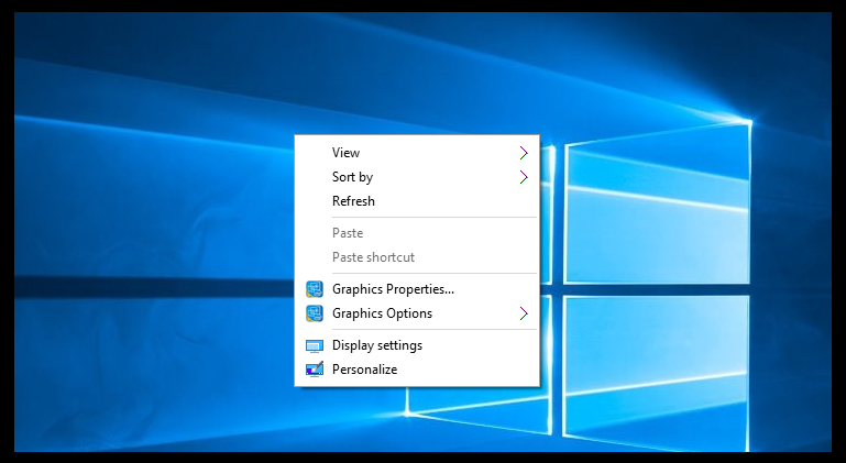 new option missing to create folder in windows 10